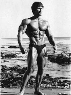 Frank Zane lifting heavy weights