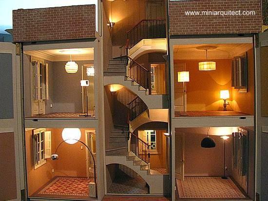 Arquitectura de casas maquetas de casas modernistas de - Maquetas de chalets ...