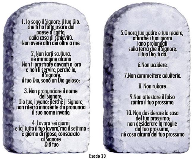 Catechesi sui dieci comandamenti chiesa santa maria - Tavole dei dieci comandamenti ...
