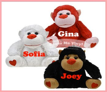 Valentine Monkey Plush