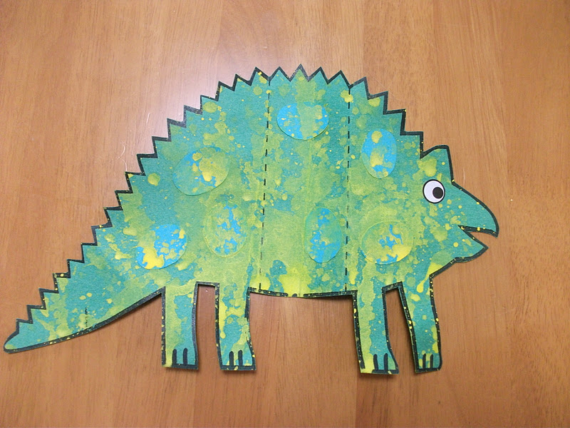 Preschool crafts for kids dinosaur card craft for Dinosaur crafts for toddlers