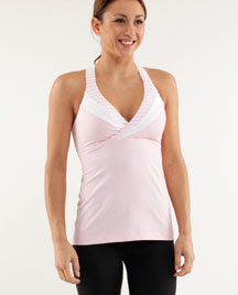 lululemon deep breath yoga tank pig pink