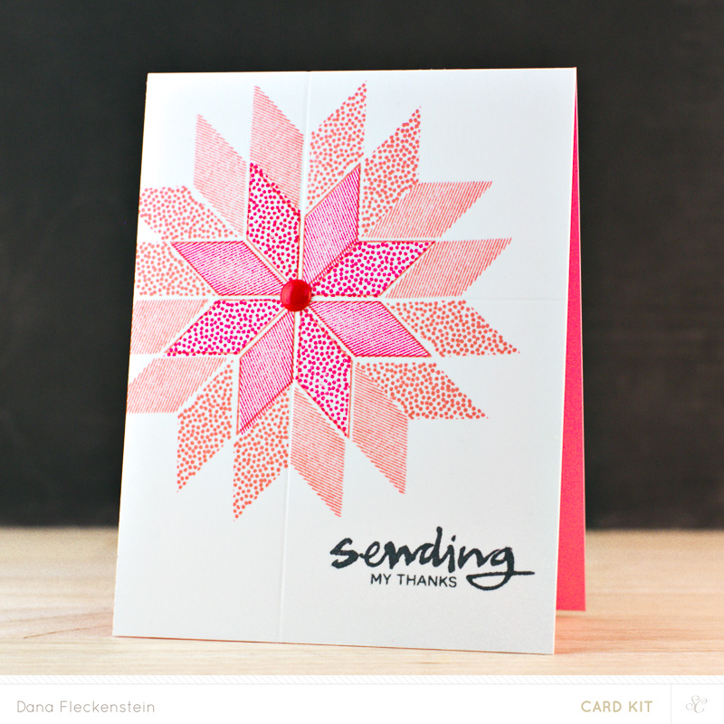 Sending My (Christmas) Thanks card by @pixnglue #cardmaking #geometric