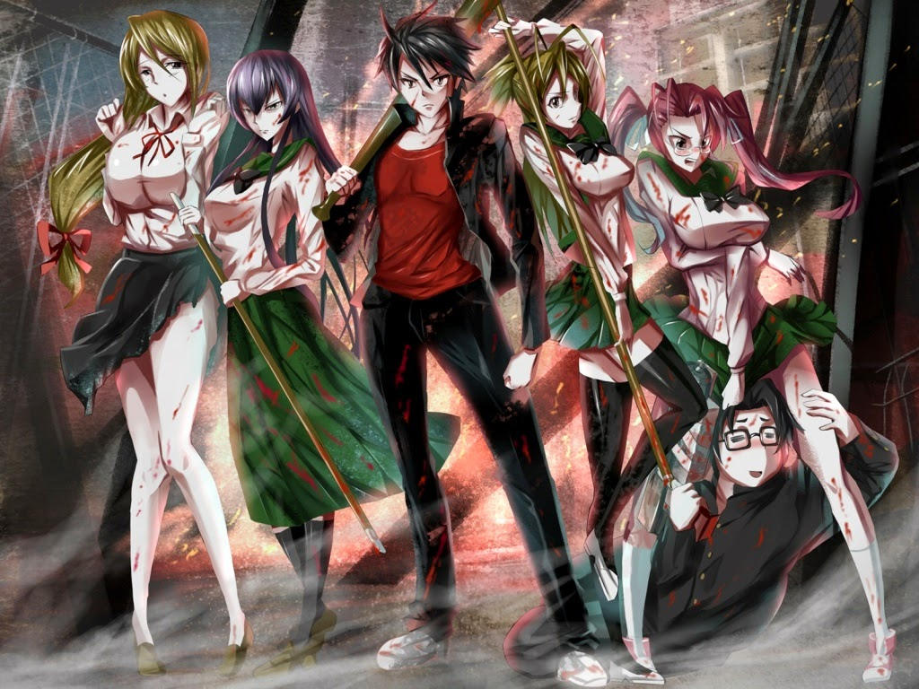 HIGHSCHOOL OF THE DEADのいらすと