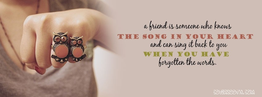 Friendship Quotes Cover Pics : Facebook cover photos