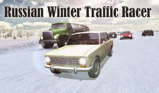 Screenshots of the Russian snow traffic racer for Android tablet, phone.