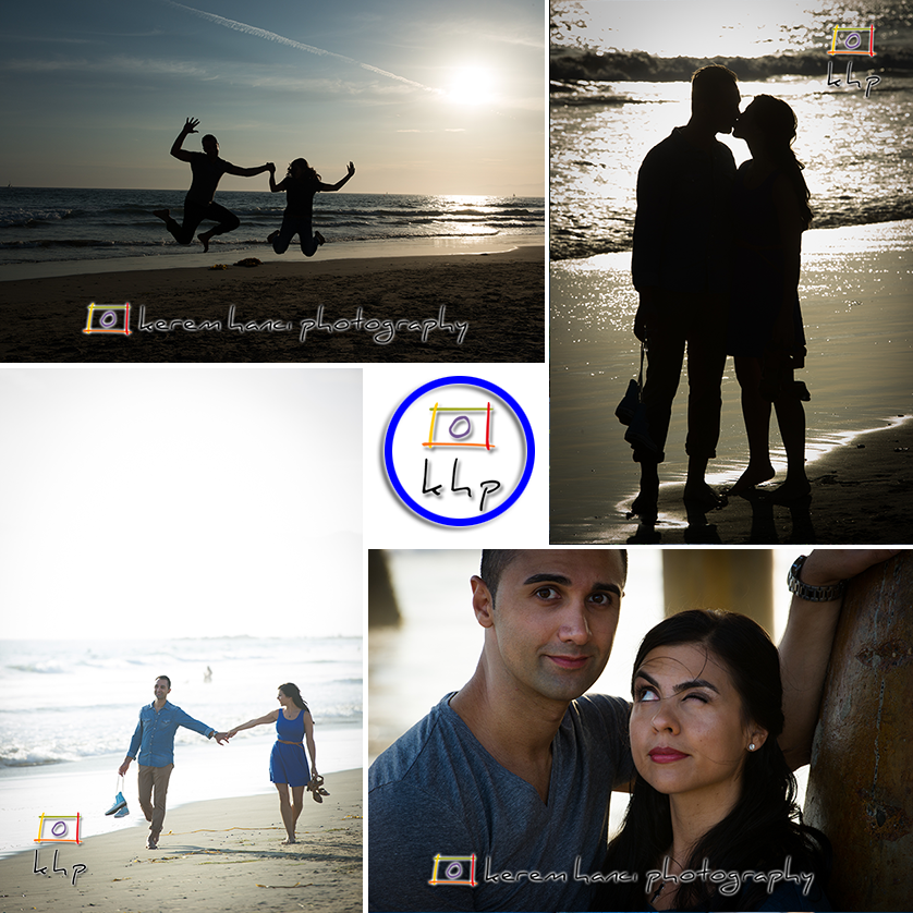 Lovely couple in an Engagement Session at the Venice Beach