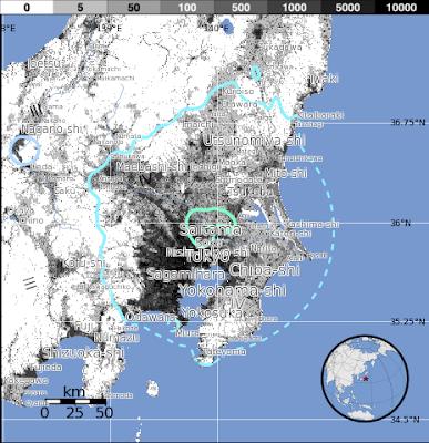 Epicentro sismo 5,6 grados en Japón, 10 de Noviembre 2013