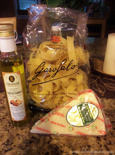 Tartufo bianco, pecorino and pappardelle