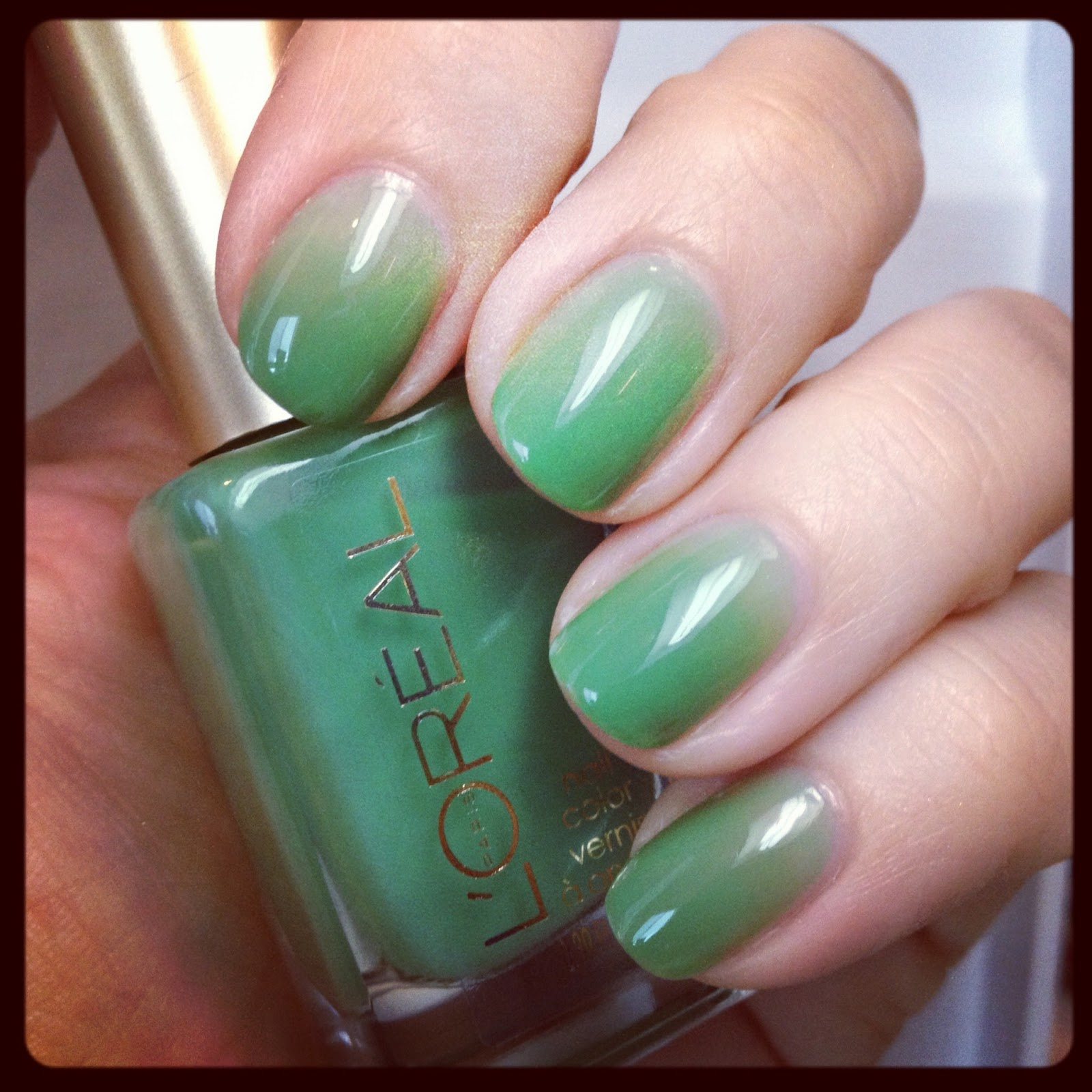 polish insomniac: My Current NOTD: Syrup Mani with L\'Oreal Creme de Mint