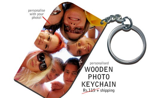 Personalised smart wooden key chain for Free