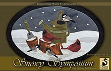 "Snowy Symposium Wool Applique 16"" x 24"""