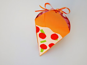 make a diy pizza gift container box