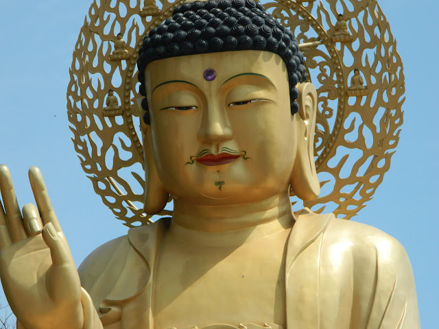 The Golden Buddha of the Sanbangsan Tempe