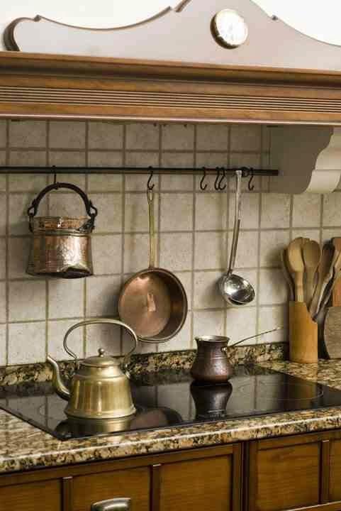 Blog wnętrzarski Mile Maison Blog o urządzaniu wnętrz i designie Kuchnia w s   -> Kuchnia Prowansalska Miedziane Garnki