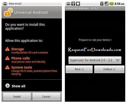 How to Root An Android Phone Without a Computer System by RequestForDownloads.com