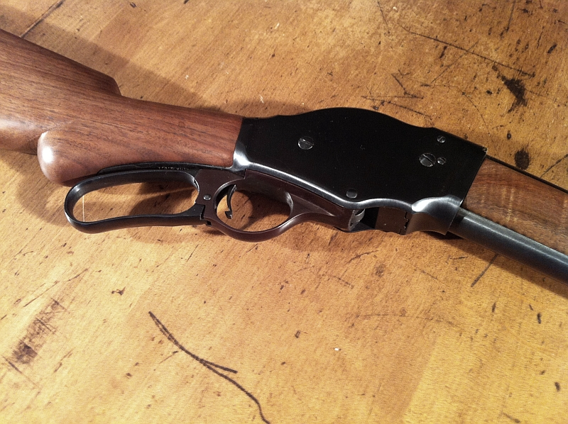 lever action shotgun. Winchester 1887 Lever Action