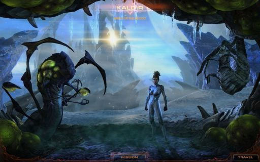 Screen Shot Of StarCraft II Heart of the Swarm (2013) Full PC Game Free Download At Downloadingzoo.Com