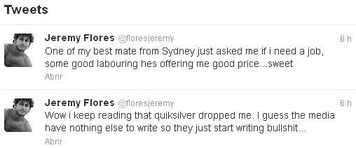 Por su parte Jeremy Flores decía en su cuenta de Twitter: