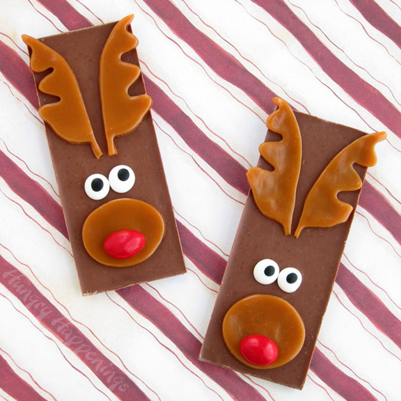 Edible Christmas Craft - Rudolph the Red Nose Reindeer Candy Bars from ...