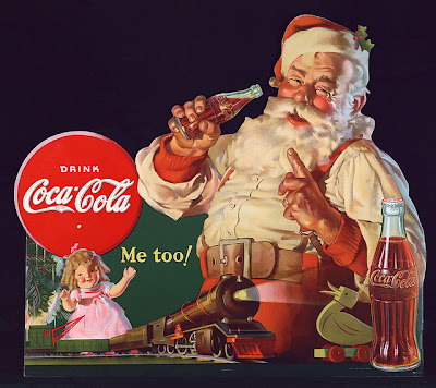 Santa Claus as we visualize him today.