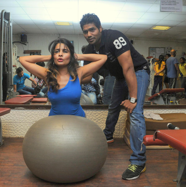 rachana shah's fitness workout hot images