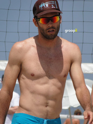 Billy Allen Shirtless at the NVL Malibu Beach Volleyball 2011