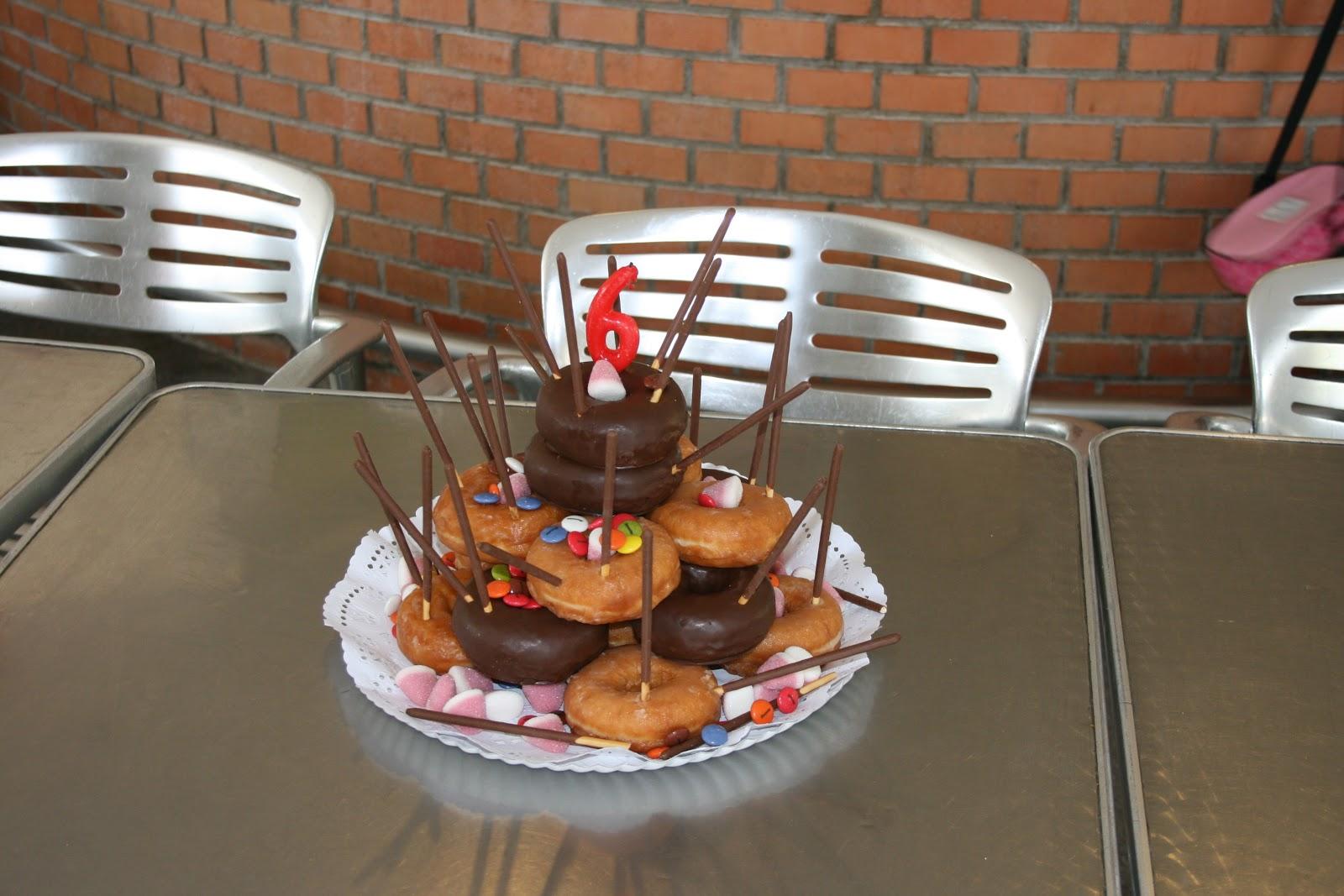 Tarta de Donuts - El Blog de Chechus