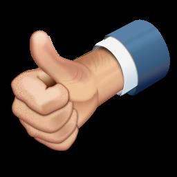 Vantagem: Mão fazendo sinal positivo