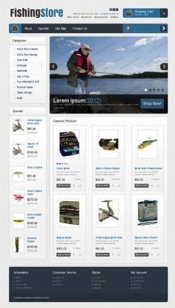 fishing strore thema opencart gratis