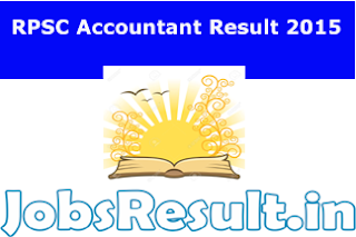 RPSC Accountant Result 2015