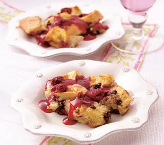 raspberry bread pudding Recipes