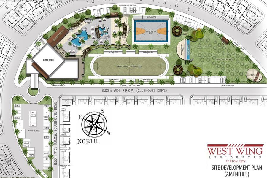 West wing residences eton city for Modern site plan