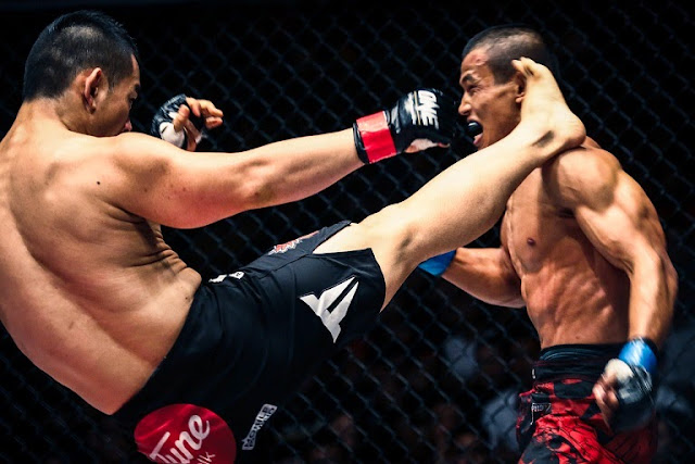Ev Ting KO head kick Edward Kelly in ONE FC 21 Roar of Tigers