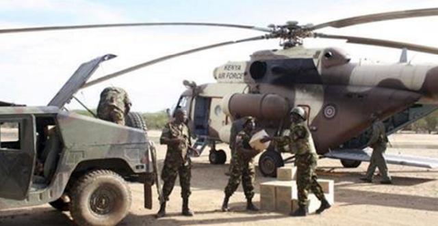 DOWLADDA KENYA OO CIIDAMO BADAN IYO DIYAARADO HELICOPTER AH GEYSAY XUDUUDA SOMALIYA IYO KENYA U DHAXEYSA