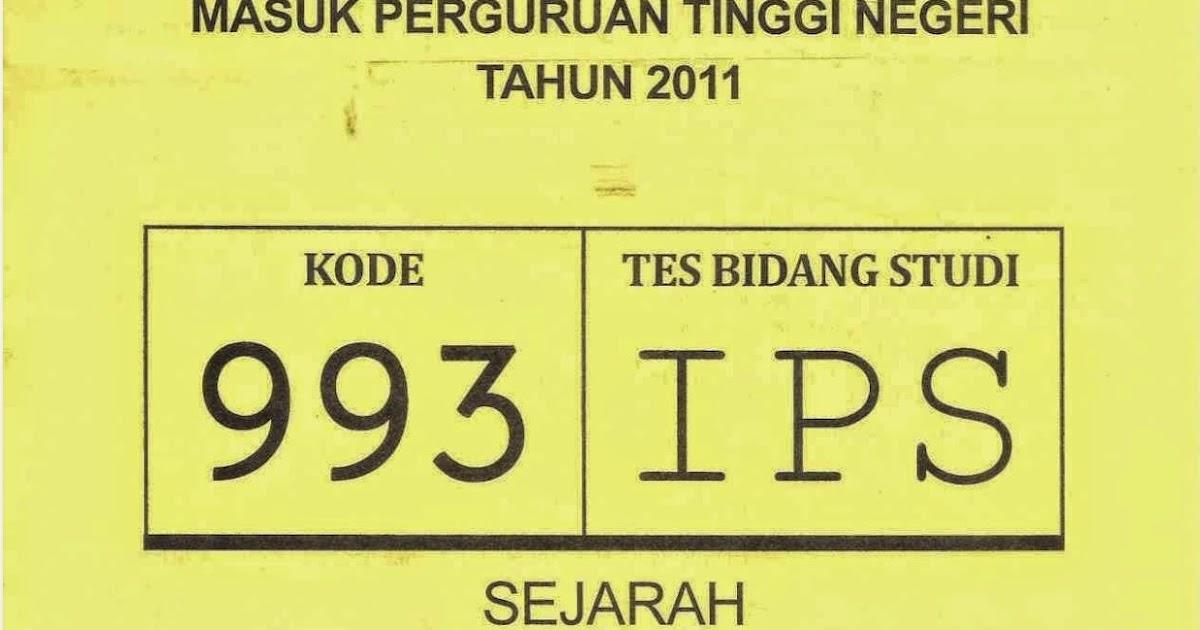 Infogtk Naskah Soal Snmptn 2011 Tes Bidang Studi Ips Kode Soal 993