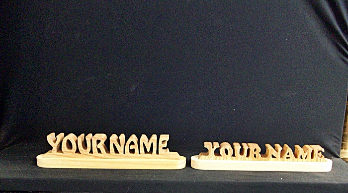 Scroll Saw Name Plate Patterns