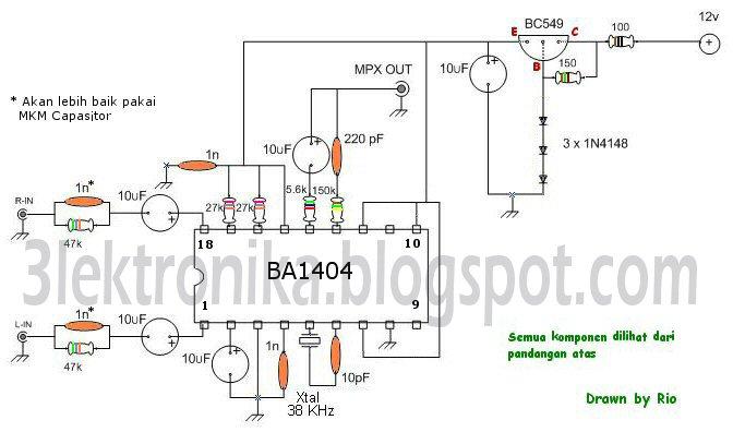 hobby radio  u0026 elektronika  stereo encoder ba1404