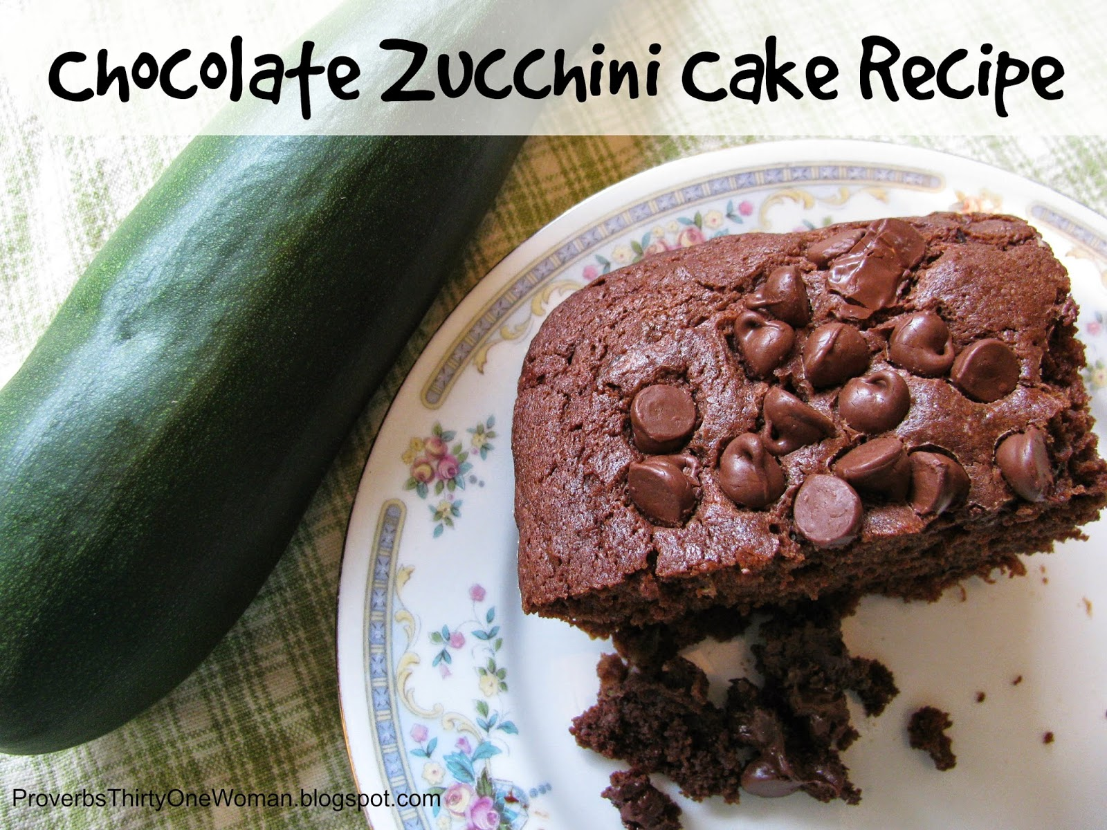 Chocolate Zucchini Cake With Chocolate Chips Recipe