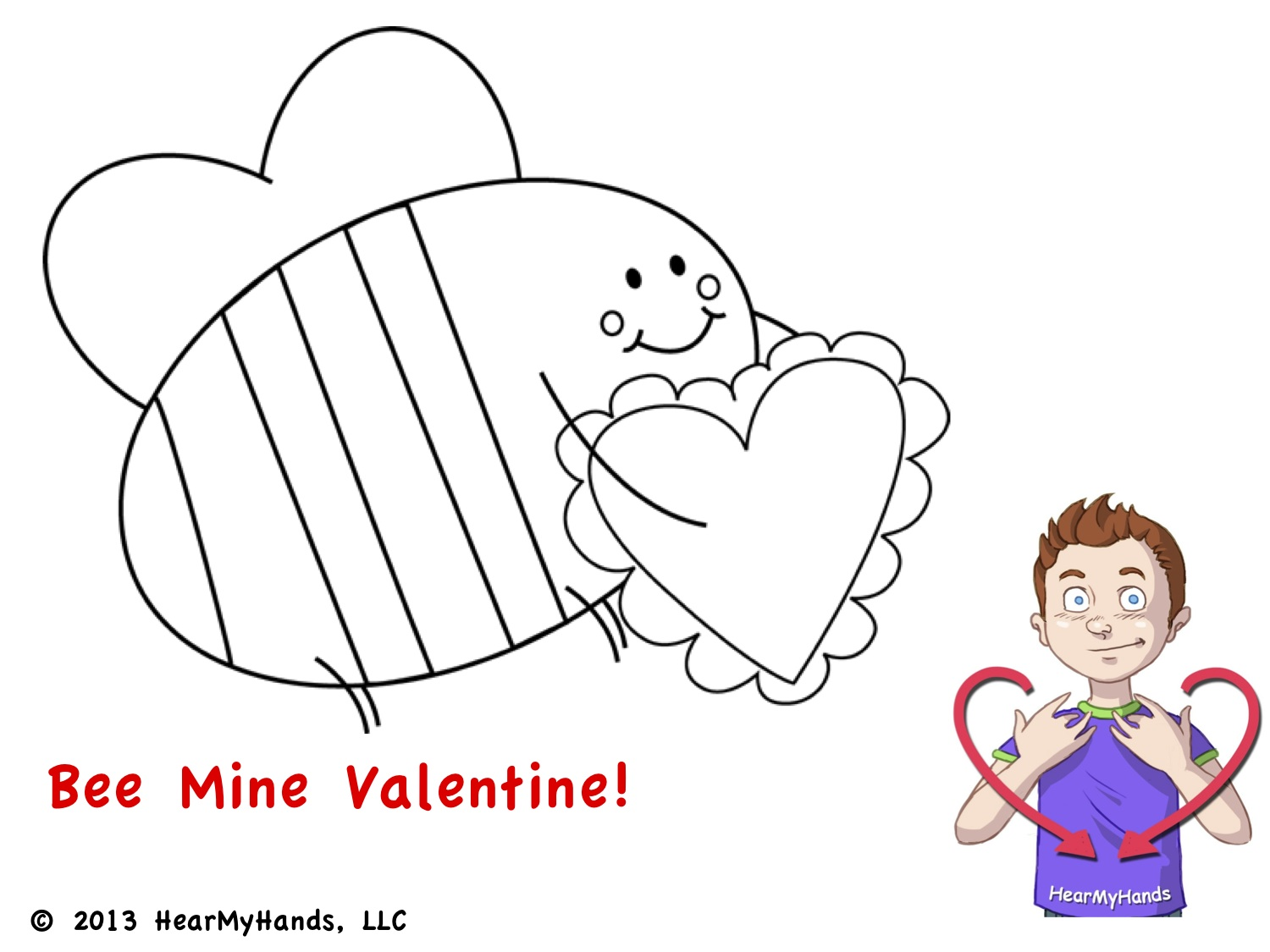 Sign VALENTINES We Created A Free Valentines Day Language Coloring Page