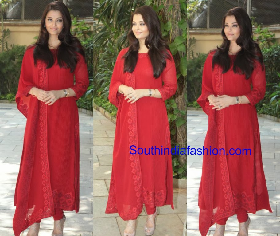 Aishwarya Rai Anarkali Aishwarya Rai in Red Anarkali