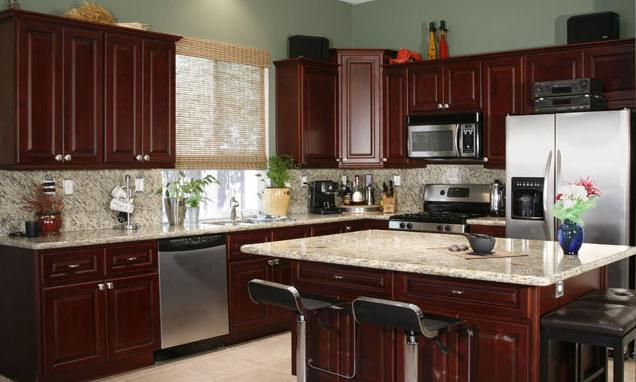 light cherry cabinets with granite countertops images