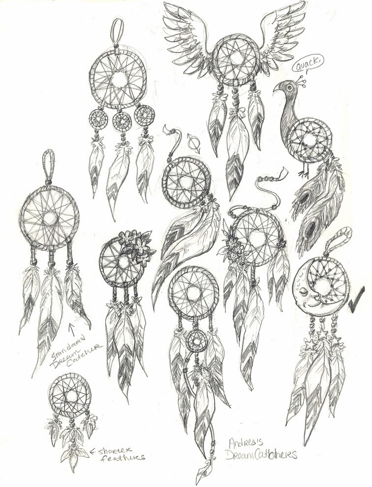 Brainstorming ideas for my  Dream Catcher Drawing Ideas