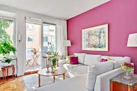 contoh ruang tamu warna pink 2015