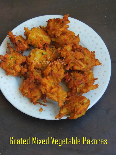 Grated Mixed Vegetable Pakoras