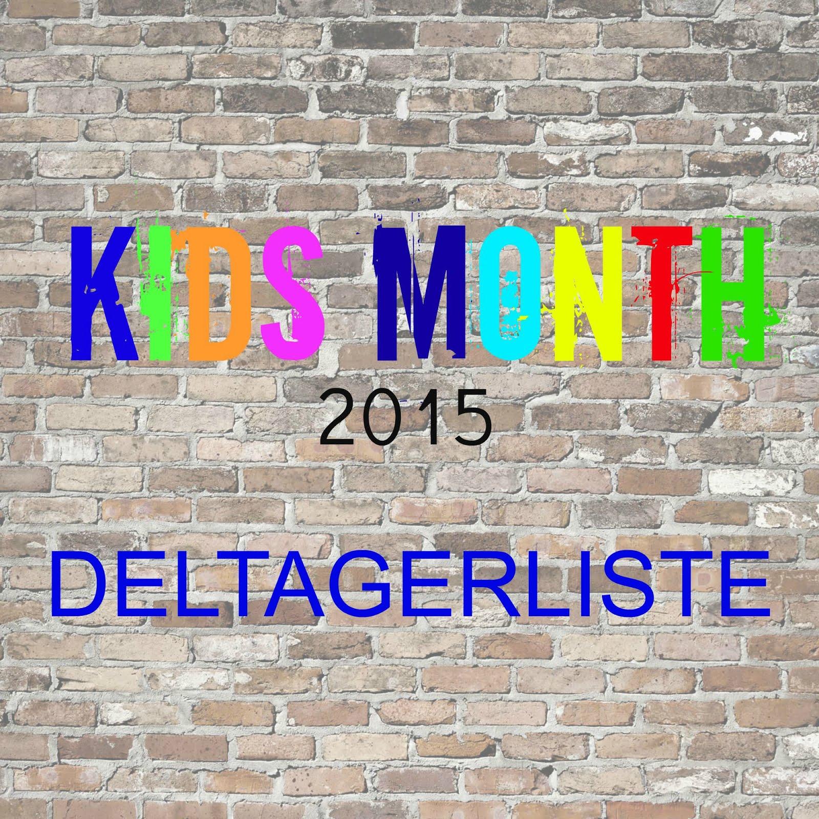 Kids Month 2015- Deltagerliste