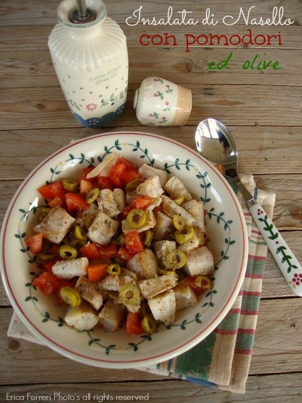 Insalata di merluzzo con pomodori ed olive Ricetta