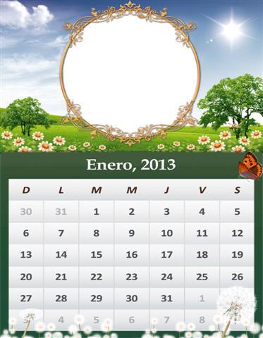 Fotocalendario Del Mes De Enero Del A  O 2013