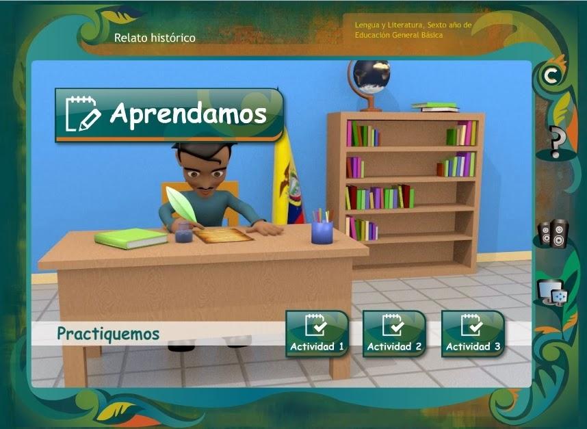 http://aprenderparaecuador.com/recursos/rdd/EGB06/LENGUA/relato/index.html