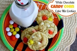 Candy Corn Cake Mix Cookies